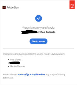Screen Adobe Sign